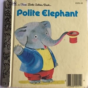 Polite Elephant Richard Scarry First Little Golden Book
