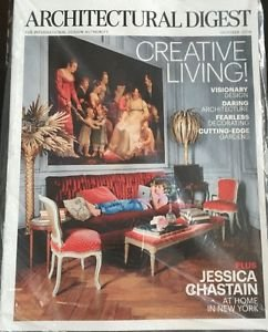 Architectural Digest Magazine New October 2016 Jessica Chastain Cover