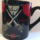 Mug Theater V for Vendetta Freedom Forever Black Coffee