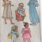 Simplicity Sewing Pattern 7836 Nightgown Granny Ruffle Pajama Girl 4-5 Christmas