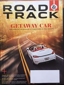 Road Track NEW Magazine Feb 2017 Getaway Car Porsche 718 Boxster S Turbocharge..