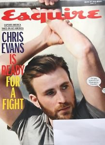 Esquire Magazine NEW April 2017 Chris Evans Captain America
