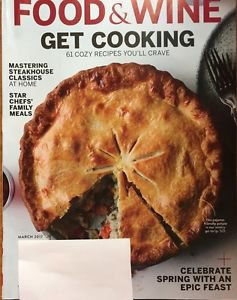 Food and Wine Magazine NEW March 2017 Get Cooking Star Chefs