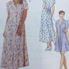 McCalls Sewing Pattern 8055 Dress Long Tie Back Button Front Size 4 6 8