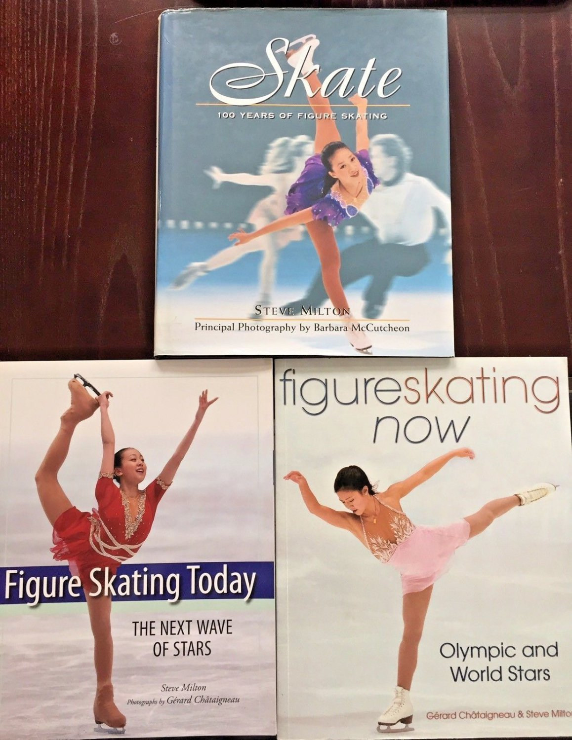 Figure Ice Skating 3 Book Lot Milton McCutcheon 100 Years Today Now Pictures