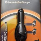 Duracell Retractable Car Charger DU4002 For Samsung Cell Phones NEW
