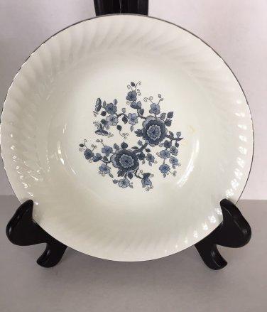 Royal Blue Ironstone Enoch Vegetable Dish Wedgwood Tunstall England Silver Trim