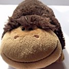 Pillow Pets Pee Wees  Monkey Plush Dark Brown Stuffed Animal