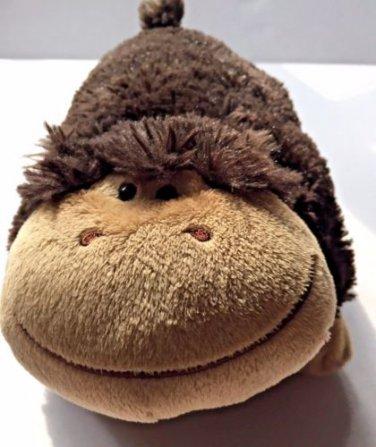 Pillow Pets Pee Wees  Monkey Plush Dark Brown Stuffed Animal