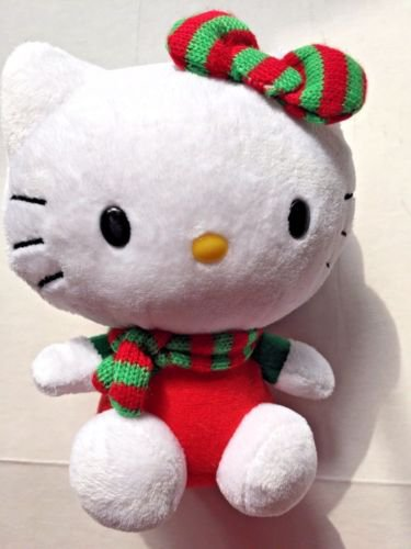 TY Hello Kitty Christmas Cat Sanrio Stocking Stuff 6 inches tall 2012