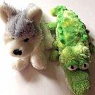 Ganz Webkinz 2 Plush Husky Dog Crocodile Stuffed Animal Kids Toys Soft