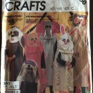 McCall's Sewing Pattern 2150 Halloween Sack Costumes Easy Dog Owl Cat Rabbit