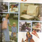 Simplicity Sewing Pattern 8792 Keyboard Cover Lunch Bag Nap Roll Up Caps Uncut