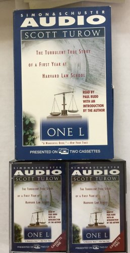 One L Turow Scott 2 Audio Cassettes Tapes Law Student Story