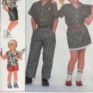 Simplicity Sewing Pattern 8464 Disney Mickey Mouse Shirt Pants Skirt Size 4 5 6