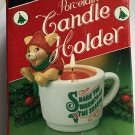 Candle Christmas Mouse Porcelain Share the Warmth of the Season 1983 Gift Co