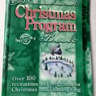 Standard Christmas Program Book PB 2002 Thanksgiving Recitations