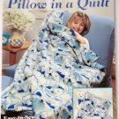 Simplicity Pillow in a Quilt Easy Fleece Instructions 1989 Booklet
