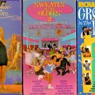 Richard Simmons VHS Tapes Lot of 3  Sweatin to Oldies 2 Groovin House Classics