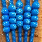 Christmas Straws Snowflake New Bendable 2 packs of 5 Blue White Winter