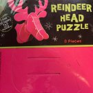 Pink Reindeer Head Cardboard Puzzle 14 inches. MGS Christmas