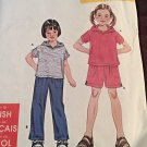 Simplicity It's So Easy Sewing Pattern 9170 Hood Top Pants Short Size 3-8 Uncut