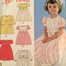New Look Sewing Pattern 6136 Toddler Dress Puff Sleeves Size   1/2-4