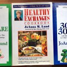 JoAnna Lund Lot of 3 Party Fare Healthy Exchanges 30 meals 30 Minutes HC Diet