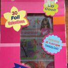 Barbie Valentines Day Cards 30 Foil 2 large Friendship 10 Fun Designs with Seals