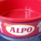 Disney's 102 Dalmatians Movie ALPO Dog Dish Red Plastic Rubber Feet on Bottom