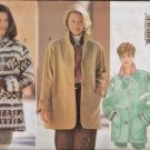 Butterick Sewing Pattern 3640 Loose Fit Jackets Coat Short Fleece XS-M Uncut