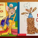Mouse Laura Numeroff Felicia Bond Lot of 2 Chunky Board Books To School Cookie