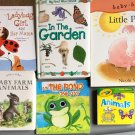 Board Book Lot of 6 Ladybug Girl Farm Animals Frog Garden Pig Pictures