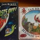 Jan Brett Lot of 2 Hedgie Books Surprise Blast Off Hedge Hog Pictures Space Ship