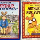 Marc Brown Arthur New Puppy Meets The President 2 Paperback Books Adventure