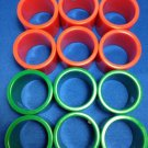 Napkin Holder Rings 12 Plastic Christmas Red Green 1.5 inch Holiday Table