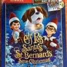 Elf Pets Santa's St Bernards Save Christmas Bonus Pack Blu-ray DVD Storybook