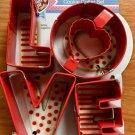 Wilton LOVE Metal 4 Piece Cookie Cutters Valentine Wedding Shower Party NEW Gift