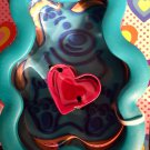 Wilton Teddy Bear Heart Cookie Cutter Dylan's Candy Bar Comfort Grip Valentines