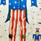 Daisy Kingdom Fabric Panel Uncle Sam Patriotic Scarecrow Door Year Round