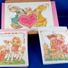 Valentines Day 3 Cards By Current  Bunnies Unicorn Vintage 1990's Envelopes