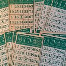 Transogram 30 BINGO CARDS Gold Medal 6 .50  x 4 in Green Parts Crafts Cardboard