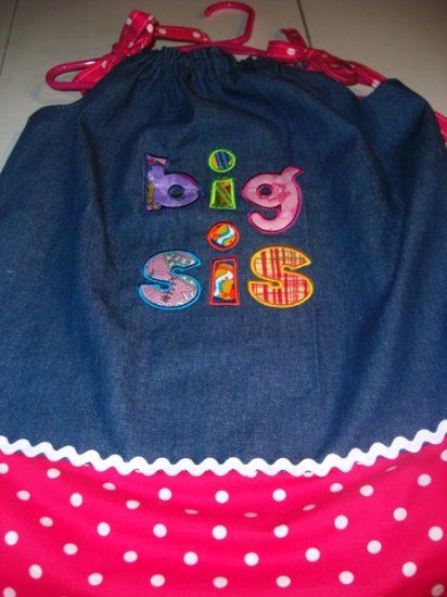 PILLOWCASE DRESS BIG SIS 0 to 4 and bigger