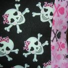 TRAVEL SIZE PILLOW CASES Skulls & Crossbones