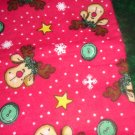 FLANNEL Christmas Reindeer Kids / Travel Pillowcase