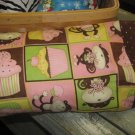 More Monkeys and CupCakes Kids/Travel Pillowcase
