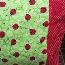 NEW LadyBugs on Green MINI Pillowcase kids/travel pillowcase
