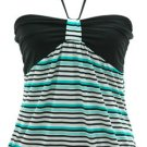 Blue Black Stripe Top