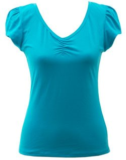 Ruched Cotten Blend Tee