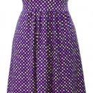 Polka Dot Dress - Purple